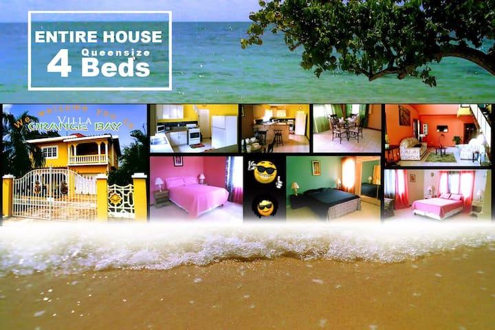 Villa Orange Bay - Whole Villa (4 Queensize  Beds)