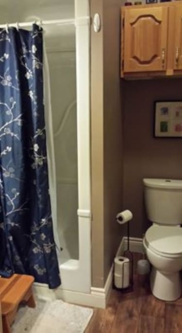 private bathroom off of bedroom.