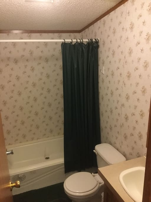 Shared Bathroom with tub shower (shared with one other room