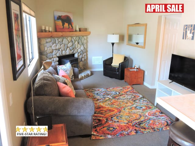 LUXURY Condo $99 in March! Walk to Town- Dog OK!