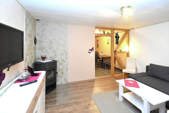 Comfortable first-floor apartment near Bad Harzburg with balcony
