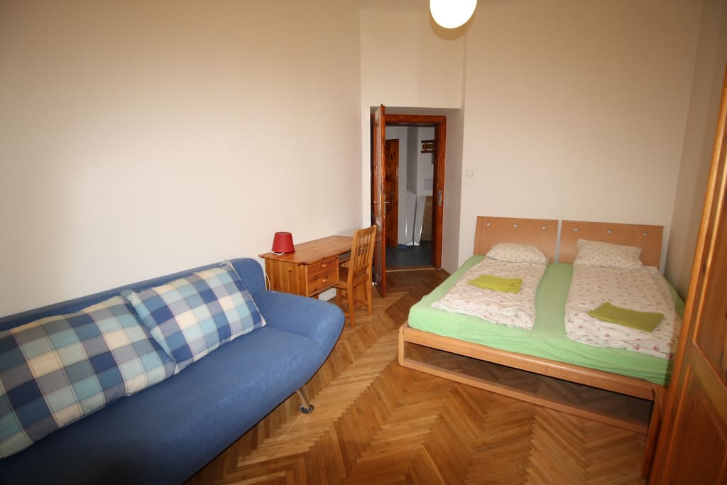 your bedroom A double bed plus double settee suit couples max sleep 4 persons