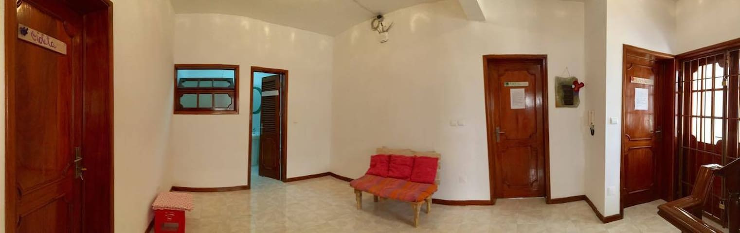 Communal area with bathroom on the first floor