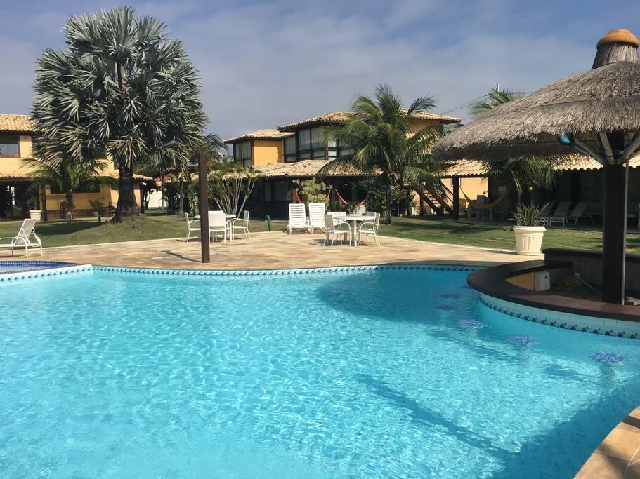 Bar molhado da piscina