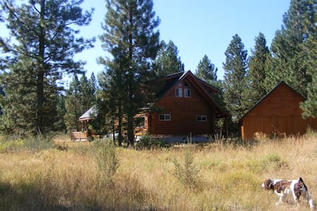 Log House nestled in the mt. forests of So. Oregon - Klamath Falls - Dom