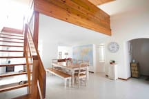 Access to the loft & upstairs bedroom and lounge