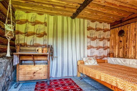 Romantic and cozy bedroom in stall of old barn