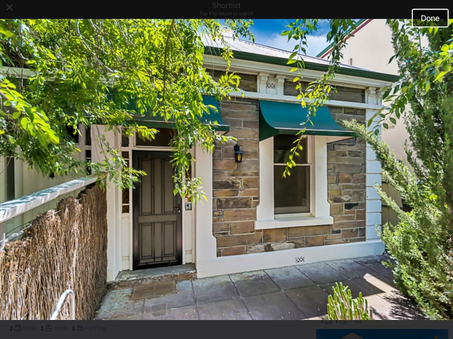 lovely central cottage with wifi houses for rent in adelaide south australia australia. Black Bedroom Furniture Sets. Home Design Ideas