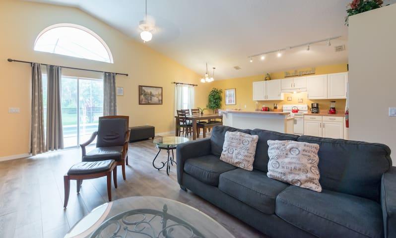New flooring! Spacious living room. Open concept