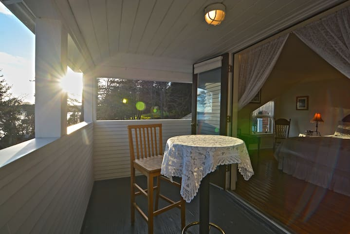 Private Room & Bathroom | Balcony Waterfront Views - Eastsound