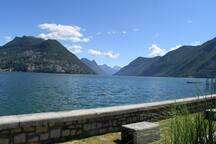 Sicht Richtung Gandria und Porlezza Italien