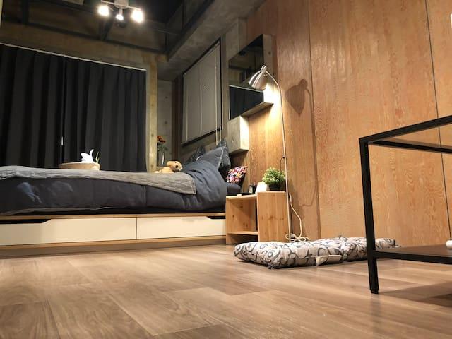 浅草站旁新上线新装修大床时尚民宿