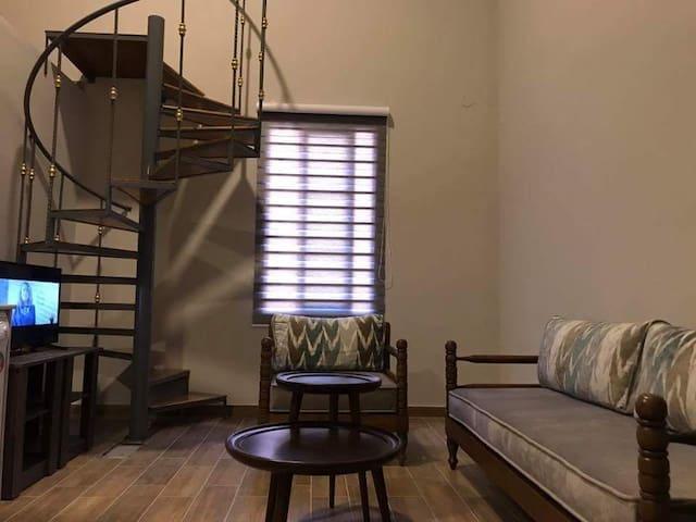Living, Duplex Apartment