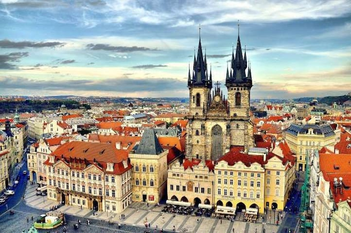 Prague city center in easy walking distance ! 15-20 minutes walk only :)