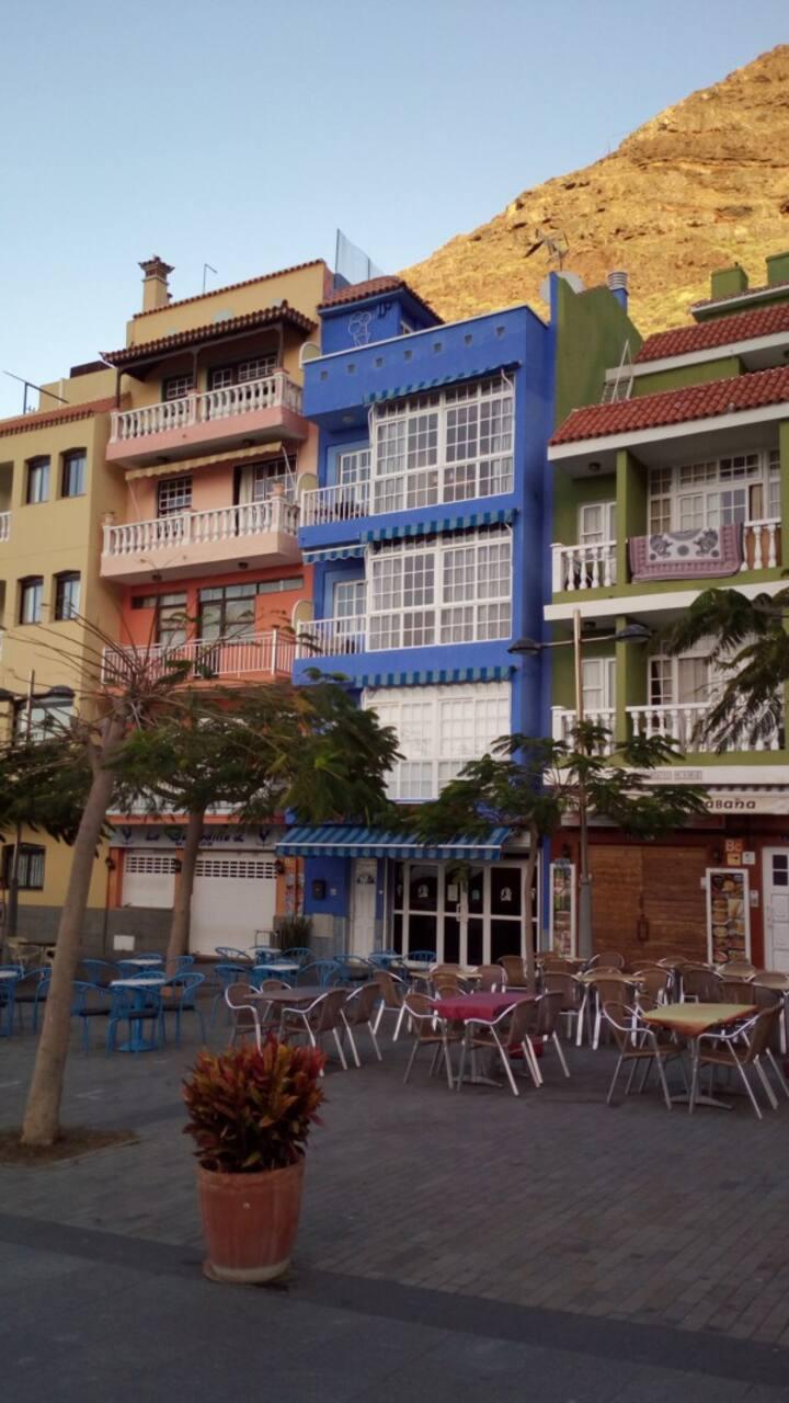 Vista monte - Edificio Azul -Puerto de Tazacorte