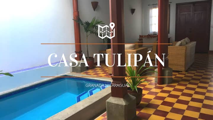 CASA TULIPÁN. Casa colonial with swimming pool