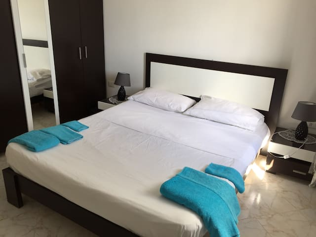 New double bedroom, modern and cozy with television with European satellite channels
