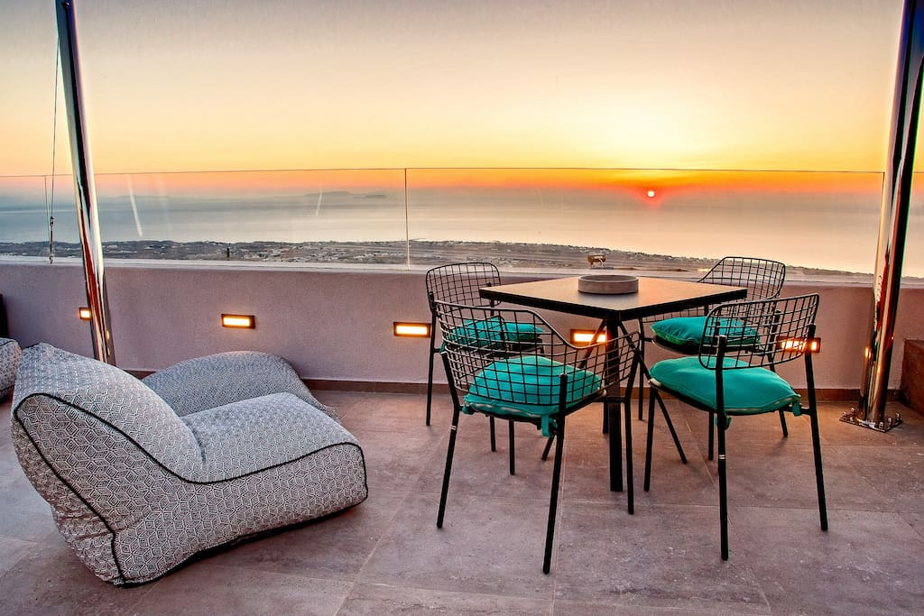 Private terrace sunrise view