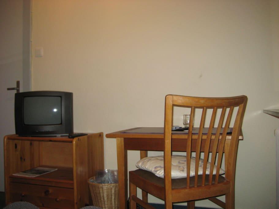 Einzelzimmer Sicht vom Bett