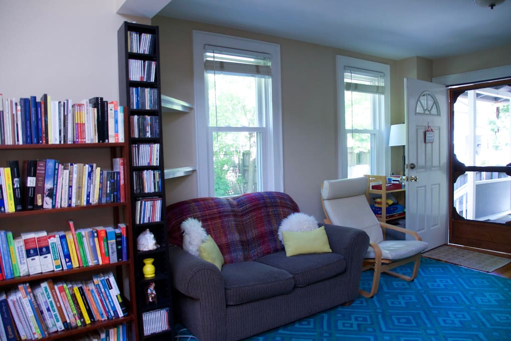 Books, CDs and other media are all over our home. Enjoy using them during your stay.