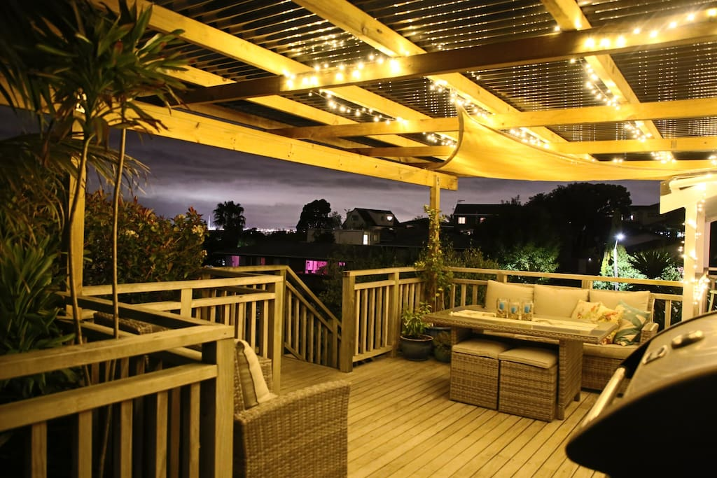 All weather deck - Night view