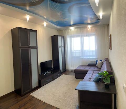 Квартира с дизайнерским ремонтом.