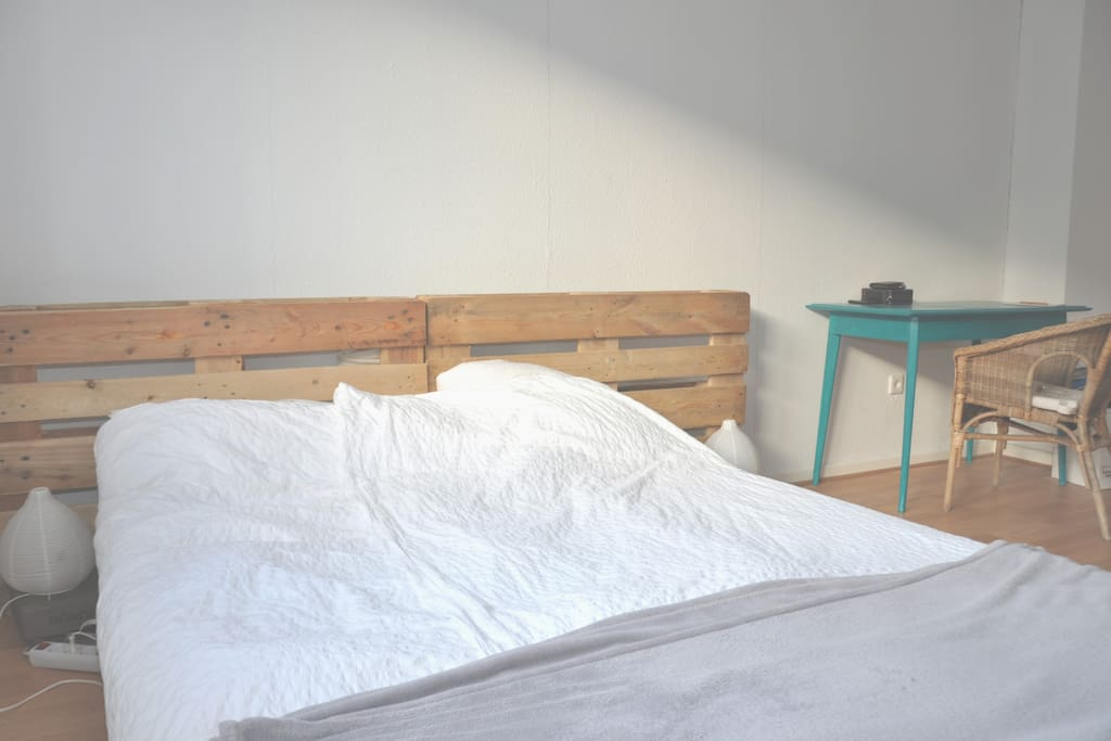 Bed is 160 by 210 cm