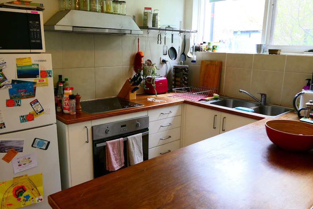 Fully functional kitchen.