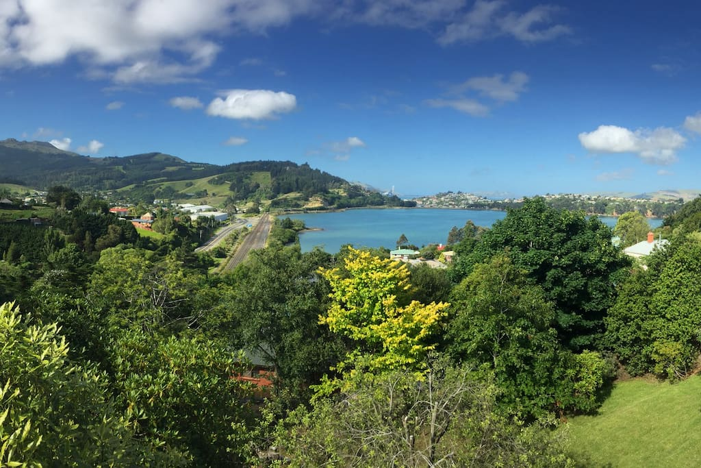Expansive views of Port Chalmers.