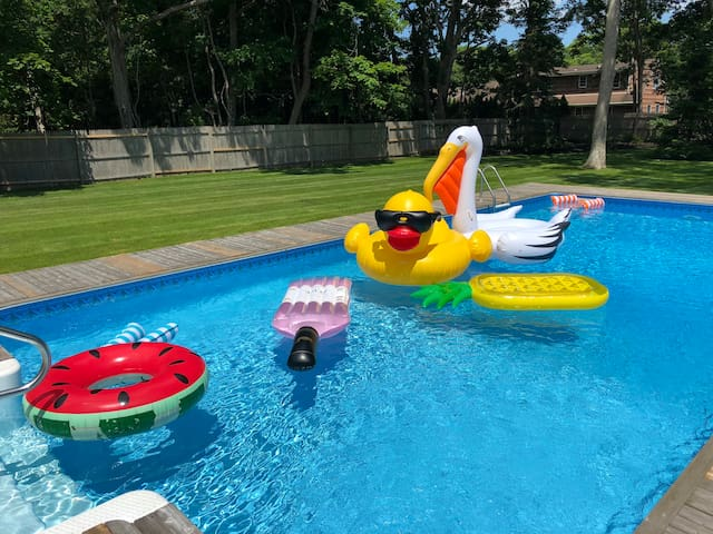 Tons of pool floats
