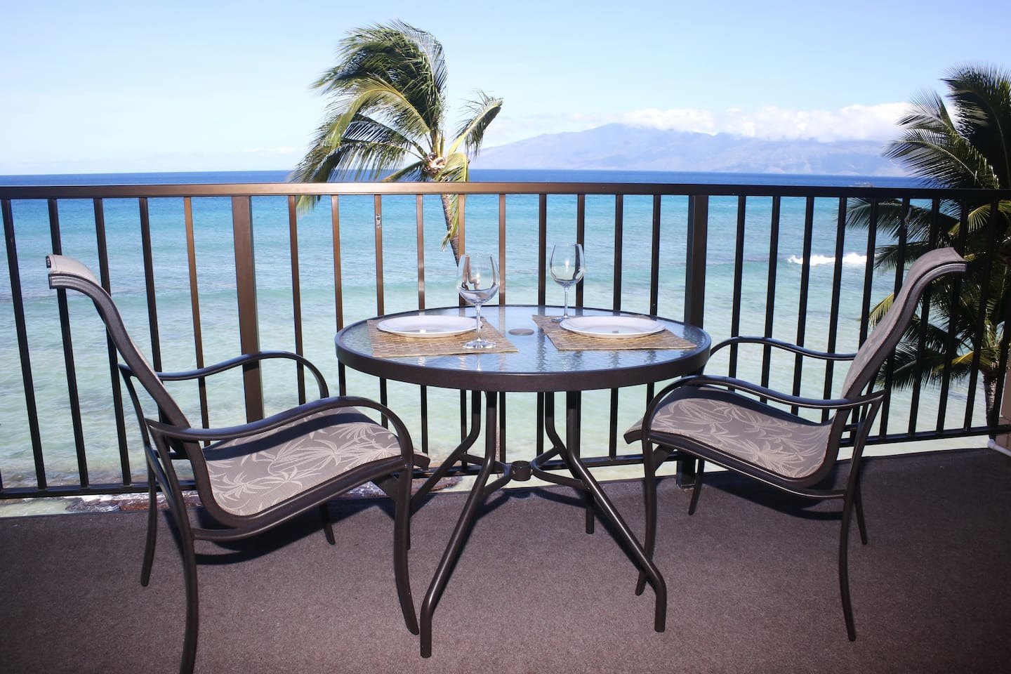 Gorgeous view from private top floor lanai!