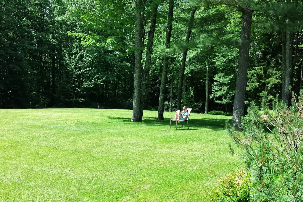 Large grass yard on 2.5 acres