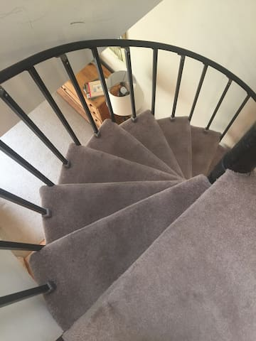 Spiral Stairs to second level