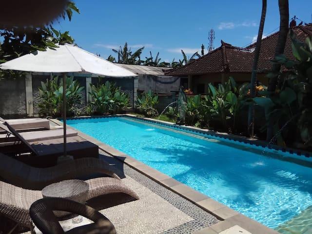 04, Balinese, family villa,  garden, shared pool