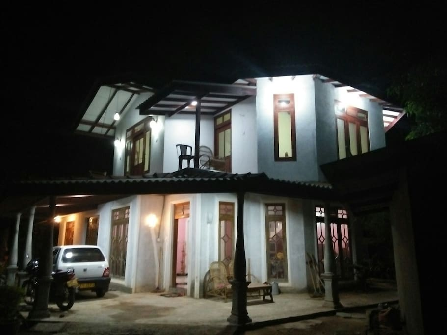 our house by night