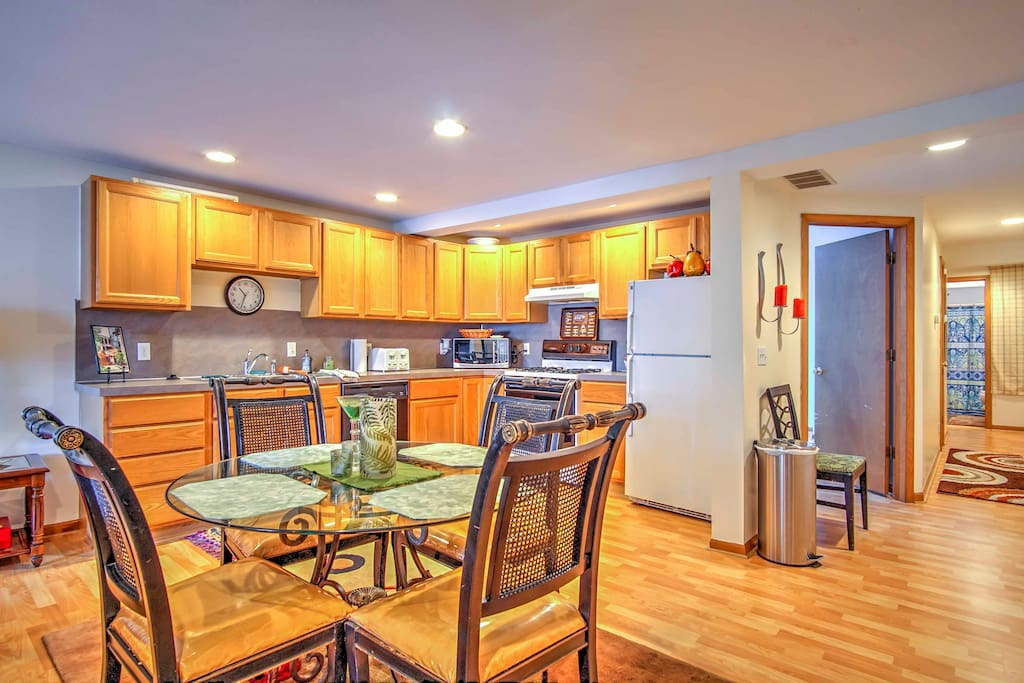 This open concept home is ideal for keeping the whole group together throughout your stay.
