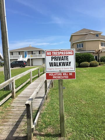 Private walkway for beach access at the end of the street