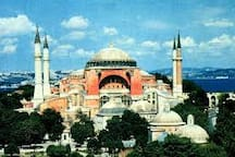 hagia sophia is in a few minutes walk