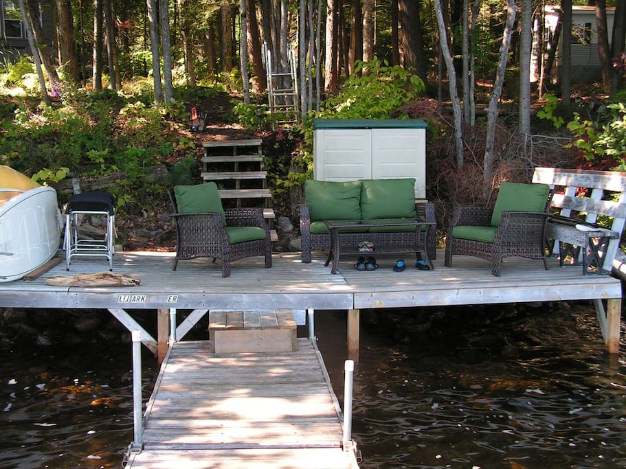8x20' furnished waterfront deck