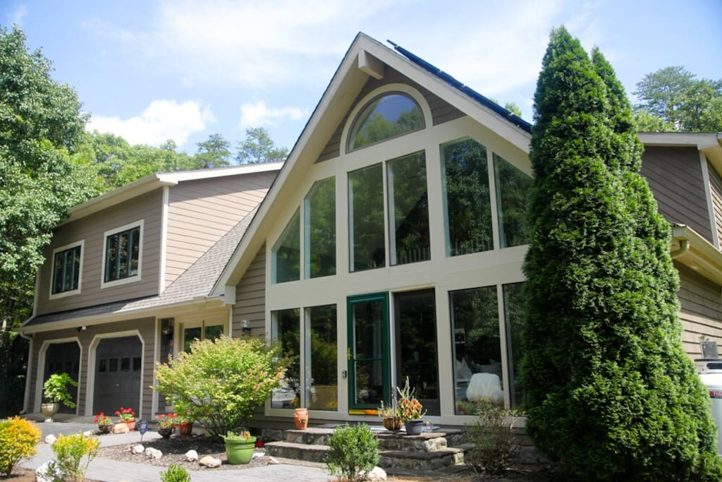 Front of home with lots of natural light.