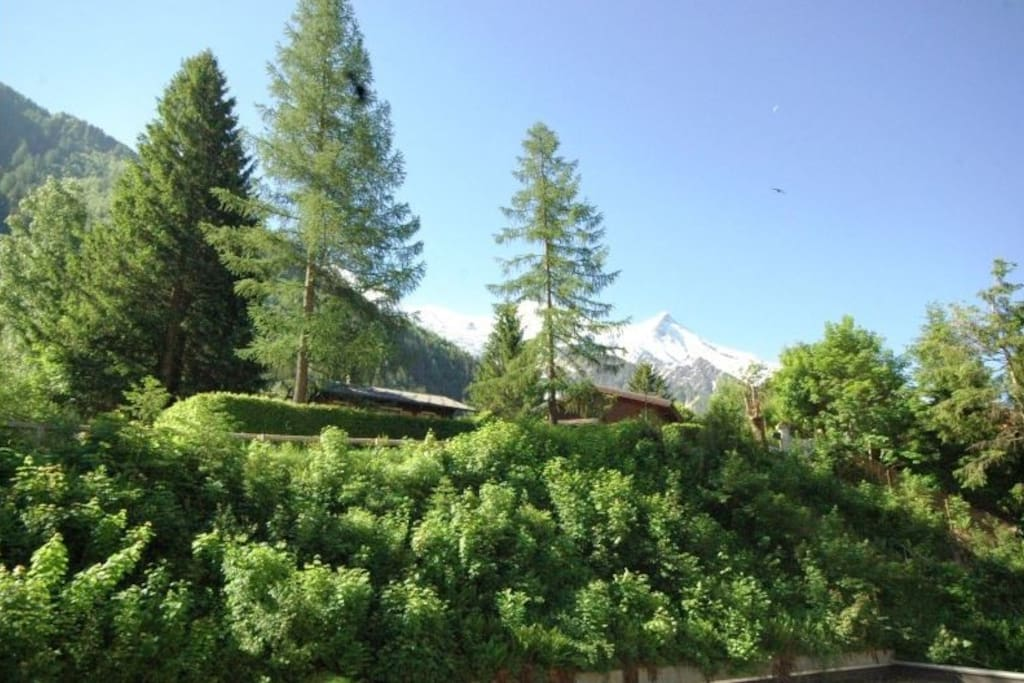 View of Mont Blanc from the main Balcony in spring