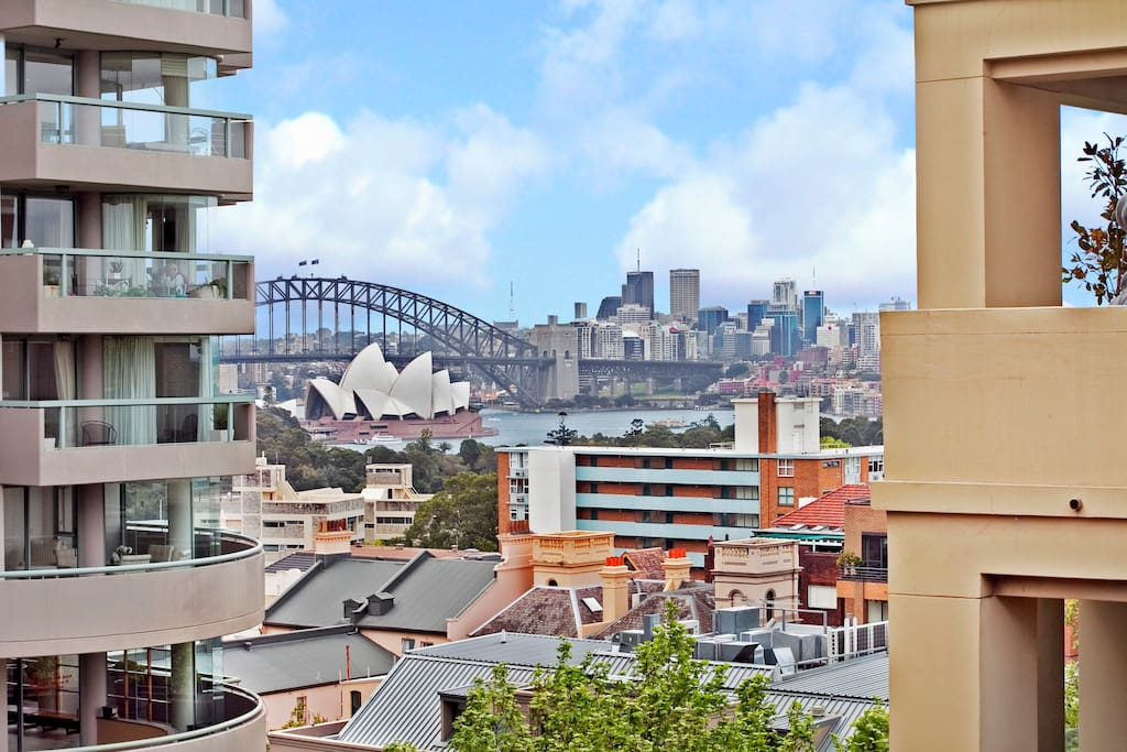 Enjoy Opera house and Sydney Harbour Bridge views from the apartment.