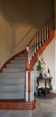 Stairway to living quarters