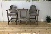 Private outdoor seating and garden -perfect to enjoy your morning coffee or relax and read a book