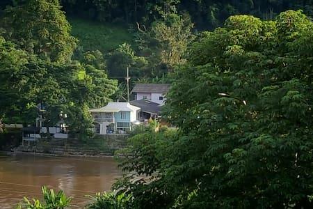 Above and near river - Tambon Doi Hang, Chang Wat Chiang Rai, TH