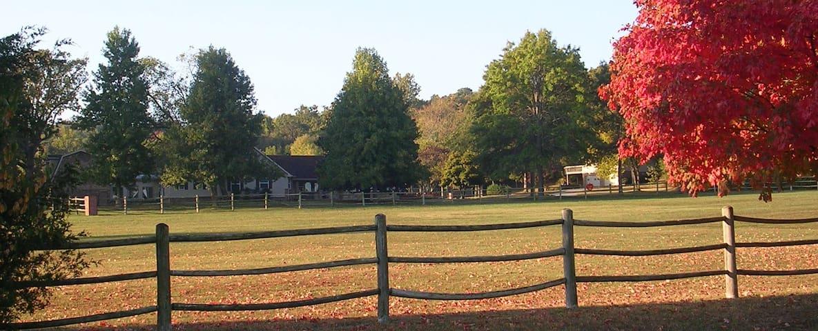 East Wing En Suite & LR at Fayetteville Estate - Fayetteville - Casa