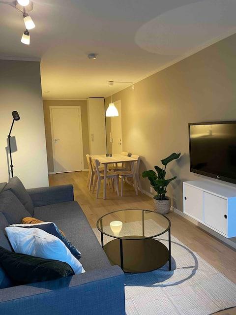 Belo apartamento entre o centro da cidade e Dyreparken.