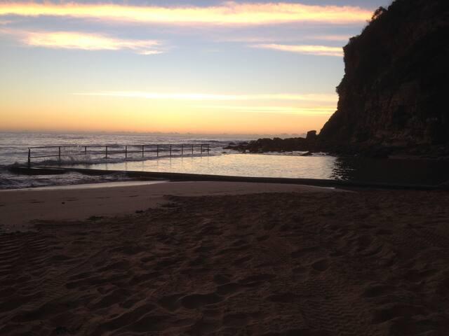 A sunrise swim?