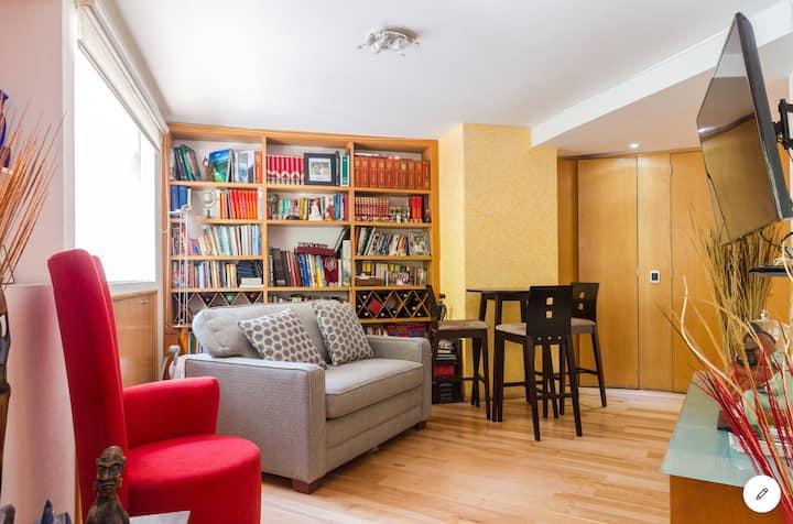 Habitación individual, hermosa casa en la Condesa