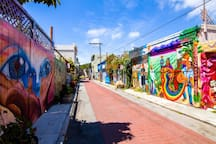 Here to explore the mural art in the Mission? We are only a 3 minute walk from the famous Balmy Alley murals!